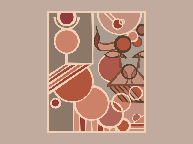 Taurus geometric pattern grey pink flatdesign flat monolinear symbol sign bull taurus zodiac layout illustrator art logo vector illustration design abstract