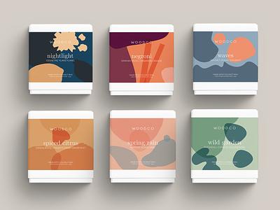 WOODCO - Candle Packaging color minimal mockup packaging design packagingdesign packaging graphic design branding layout illustrator art vector logo illustration design abstract