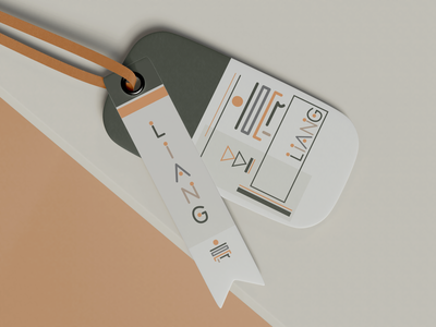 LIANG 亮 FASHION LABEL #1 fashion minimalist minimal layout design layout card design card package packaging design packaging label brand branding illustrator logo art vector illustration design abstract