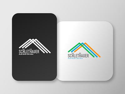 Schlethauer Logo illustration branding minimal vector logo design