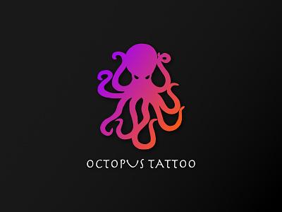 Octopus Tattoo Logo minimal illustration vector design branding logo