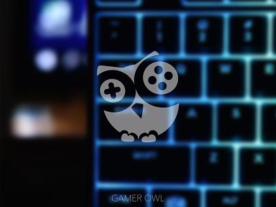 Gamer Owl Logo youtube youtube channel youtube banner youtube logo minimal icon logo branding design
