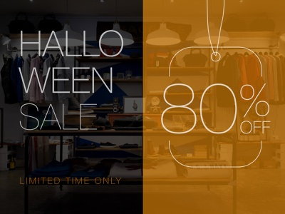 Halloween Sale sale flyer flyer design halloween illustration vector minimal branding design