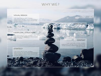 """Why we"" Page minimal website ux ui web branding design"
