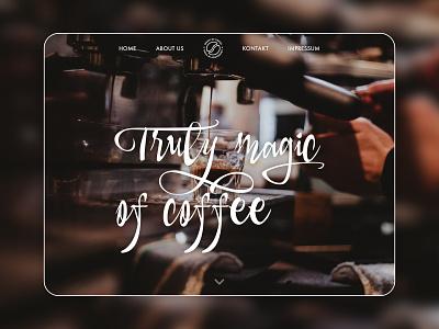Magic of Coffee website ux theme wordpress minimal ui web design