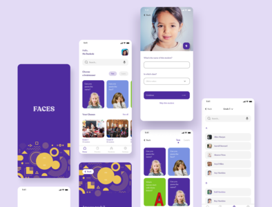 Faces designinspirations 100daysofdesign education ux ui illustration figma daily ui app design app