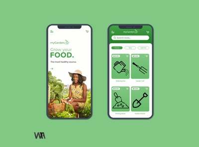 Grow your food mobile layout