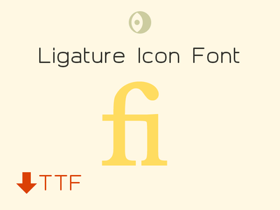 Ligature Icon Font icon font icons 16px vector ligature font ttf free download icon set icon pack