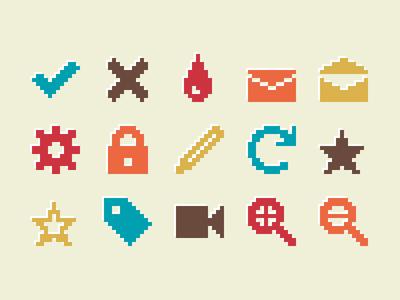 Pixelified (week 2): 15 Free icons
