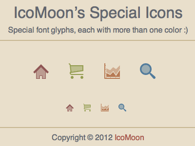 Special Font Glyphs/Icons