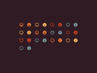 Emoticons emoticons smileys vector icons 16px 32px psd freebie icomoon free download webfont icon font