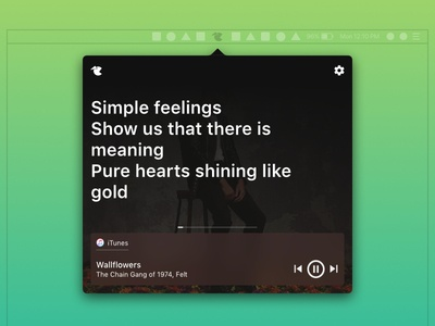 macOS - Lyrics App real project macos menu menu bar lyrics menu bar app itunes spotify music