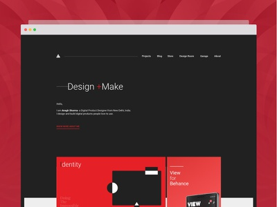Personal Website - Revamp real project ui store blog dark portfolio web design personal identity personal branding personal website