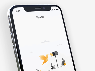 Sign Up - Successful onboarding messages chat healthcare ui iphone mobile app real project illustration animation flat ios motion sign up