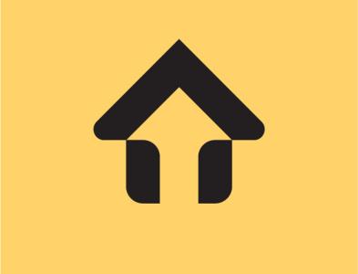 House and Up arrow logo realestate home logo house