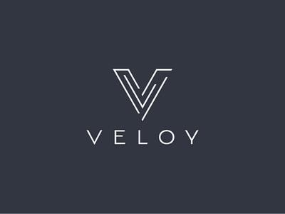 VELOY minimalist v logo modern