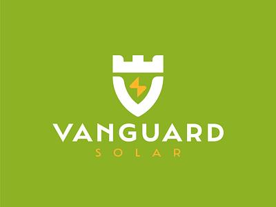 VANGUARD fort video shield energy logodesign solor