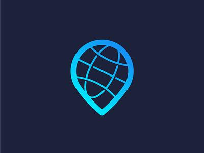 Global to Local minimalist baloon local logodesign location