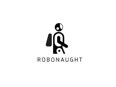 ROBONAUGHT r2d2 boot ai logo modern astronaut robert