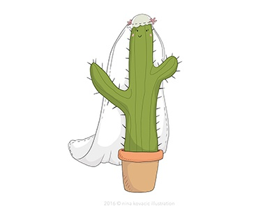 Cactus Bride to be bachelorette bachelorette party cactus wedding bride digital illustration photoshop painting drawing illustration