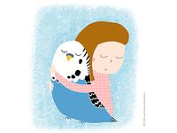 Vojka and her parrot