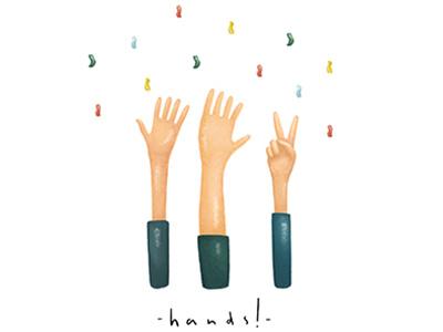 Hands!  nina kovacic life celebrating collection greeting cards greeting card hands hand painting drawing illustration art
