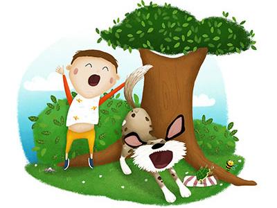 Power nap boy power nap nap bee dog childrens book illustration nina kovacic children illustration illustration