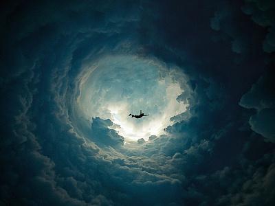 Circular Experiment #1 1 photoshop circular experiment clouds