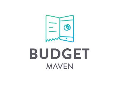 Expense App Logo book receipt mobile minimal logo line art expense design cool colorful budget app