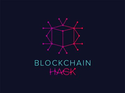 Hackathon Logo typography warm bold cool creative line minimal colorful logo hackathon