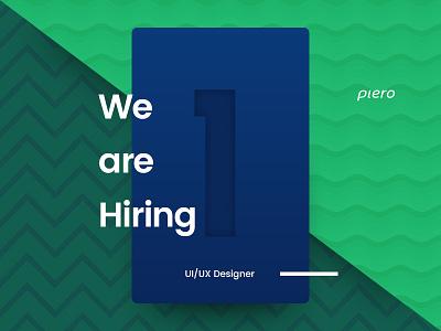 Hiring UI/UX Designer typography card beautiful clean fresh cool colors designer ux ui uiux hiring