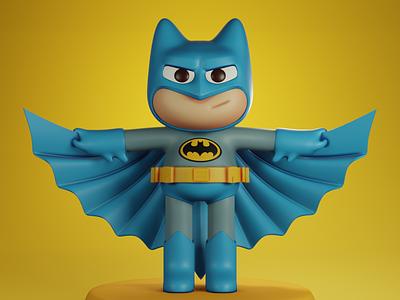 Batman Toy cartoon cartoon character big eye baby 3d cute blender