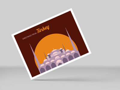 Greetings from Turkey postcard postcard design illustration ai flat vector dribbbleweeklywarmup
