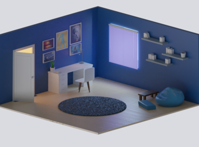 Iso room blender3d design