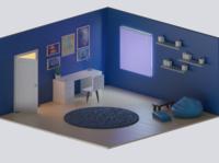 Iso room blender3d design