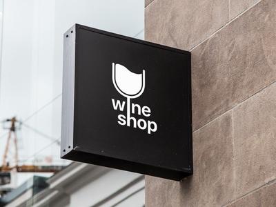 Wine Shop Logo minimal sketch design logo wine