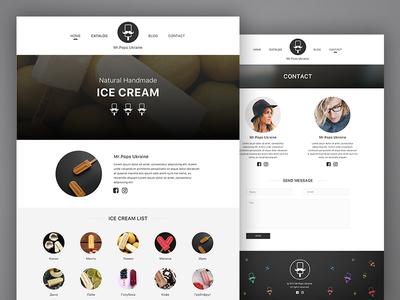 Ice Cream web site concept