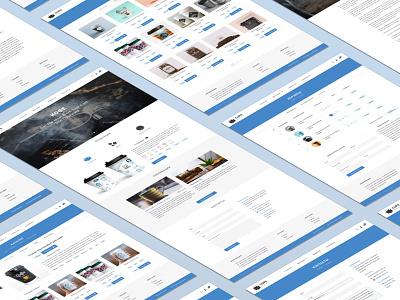 Design concept for cups shop design web page web site web design web