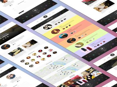 Design concept for ice cream web site