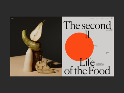 The Second life of the Food Animation typography interface stilllife video concept interaction promo website web ui
