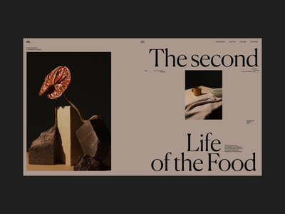 The Second life of the Food Animation motion interface stilllife typography promo video website web ux ui