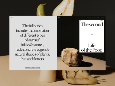 The Second life of the Food Animation photography stilllife motion typography promo video website web ux ui