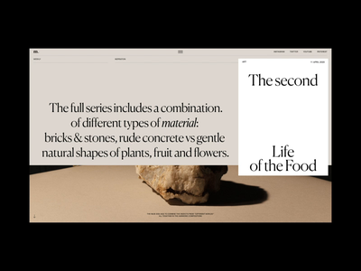The Second life of the Food Animation motion interaction typography promo animation video website web ux ui