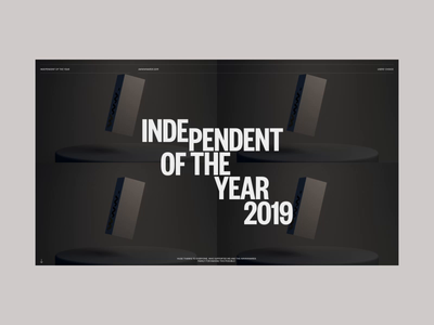 Independent of the year on Awwwards promo website video web ux ui