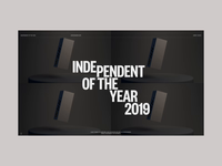 Independent of the year on Awwwards