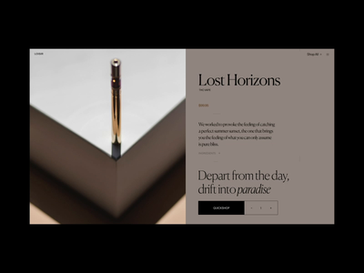 Loisir Product Page Animation design motion interaction typography video animation website web ux ui