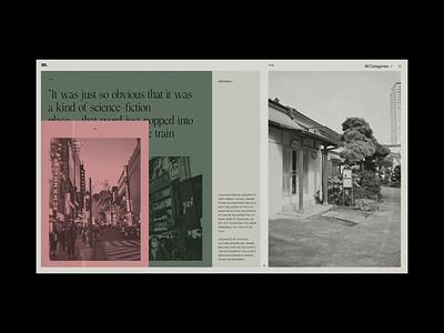 M. Editorial Website Tokyo Film Photography typography motion interaction photography film promo animation video website web ux ui