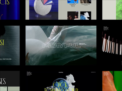 Playful Creative Collective running for SOTM on Awwwards motion grid typography promo interface video animation website web ux ui