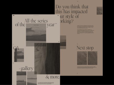 M. Article Page Layout Explorations concept grid typography promo interface website web ux ui