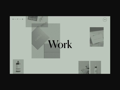 Kati Forner Work Page Animation list design motion video typography promo interface animation website web ux ui